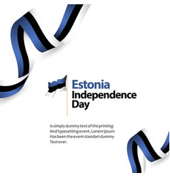 Estonia independence day template design vector