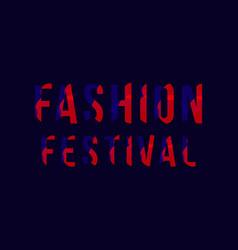 Fashion festival template design vector
