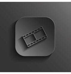 Film icon - black app button vector image