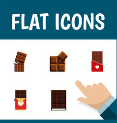 Flat icon sweet set of chocolate bar wrapper vector