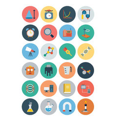 Flat Science and Technology Icons 4 vector