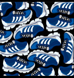 Footwear atheletic background vector