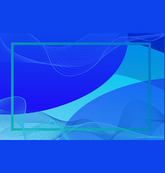 Frame template with blue background vector