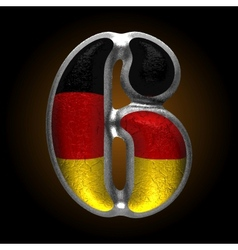 Germany metal figure 6 vector