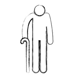 Grandfather silhouette avatar character vector