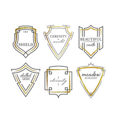 Graphical shields vector