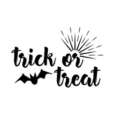 Halloween greeting card calligraphy vector