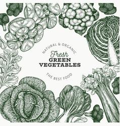 hand drawn sketch vegetables design organic fresh vector image
