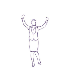happy businesswoman cheerful female successful vector image