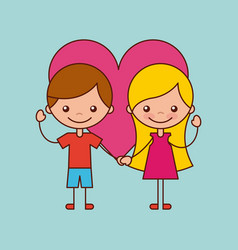 happy friendship children vector image