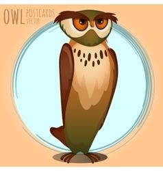 High brown owl cartoon series vector image