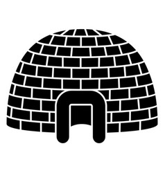 ice igloo icon simple style vector image