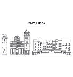Italy lucca line skyline vector