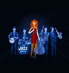 Jazz band blues music musical festival concept vector
