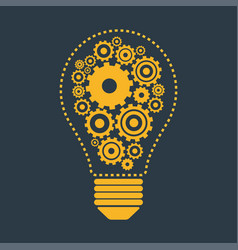 Light bulb and gears vector