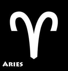 Logo zodiac sign aries vector