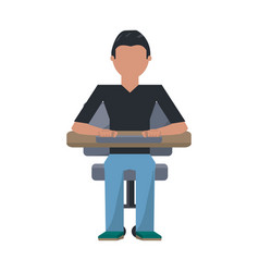 Man sitting on a chair vector