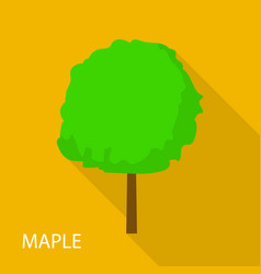 Maple tree icon flat style vector