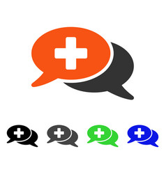 Medical chat flat icon vector