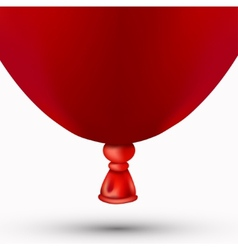 modern red balloon on white vector image