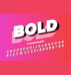 modern ultra bold 3d typeface alphabet letters vector image