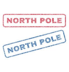 North pole textile stamps vector