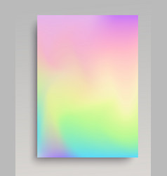Plain iridescent vertical gradint backdrop vector