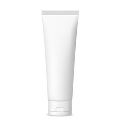 Plastic cosmetic tube for cream or gel mockup vector