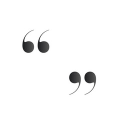 quotes quotation mark or symbol isolated on white vector image