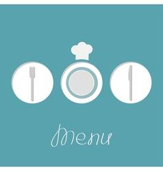 round menu vector image