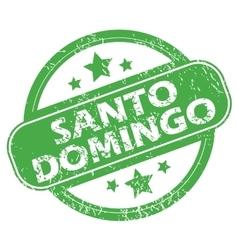Santo Domingo green stamp vector