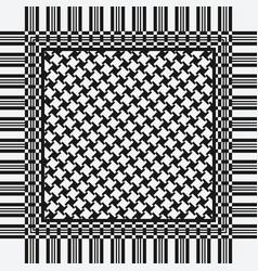 Scarf keffiyeh pattern vector