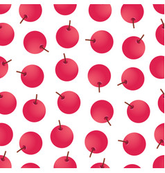Seamless pattern with red berries vector