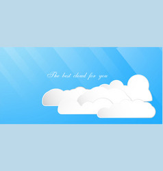 set of the best cloud isolated on blue background vector image