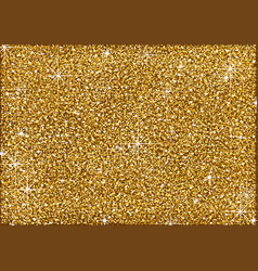 shining golden glitter background vector image