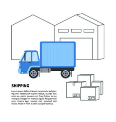 shipping and warehouse banner template in flat vector image