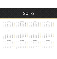 Simple modern calendar 2016 in German Ready for vector image