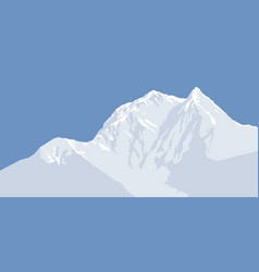snow-capped mountain peak mountain range vector image
