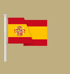 Spain flag with copyspace vector
