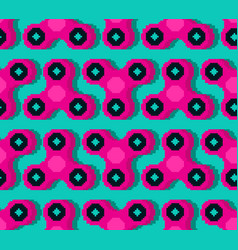 spinner pixel art pattern fidget finger toy vector image
