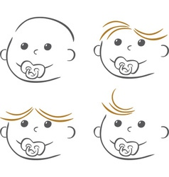 Stylised baby drawing vector image