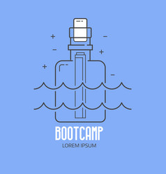 summer beach bootcamp logo vector image