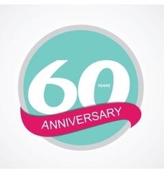 Template Logo 60 Anniversary vector