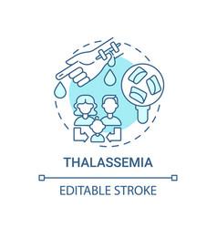 Thalassemia blue concept icon vector