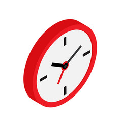 wall clock icon isometric pictogram isolated on vector image
