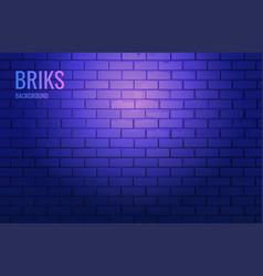 wall with brickwork illuminated light a vector image