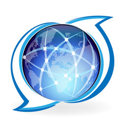 worldwide network connection vector image