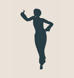 abstract women in dancing pose vector image
