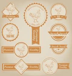 Chicken Meat Label Design vector image vector image