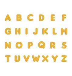 Dotted cookies alphabet vector image vector image